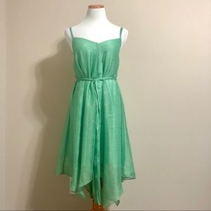Anthropologie HD in Paris Green Handkerchief Dress